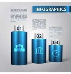 Infographic 3d template vector image vector image