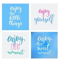 Lettering quotes motivation typography vector image vector image