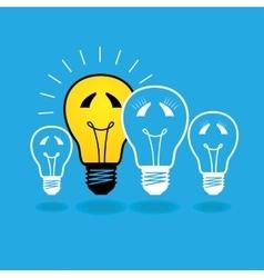 lightbulb family concept - vector image