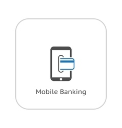 Mobile Banking Icon Business Concept Flat Design vector image vector image
