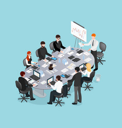 Office conference isometric design vector