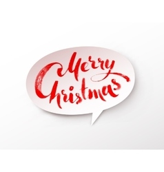 Paper banner with Merry Christmas lettering vector image vector image