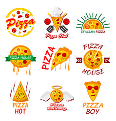 Pizza templates for fast food or italian vector
