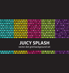 Polka dot pattern set juicy splash seamless vector