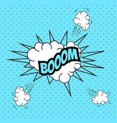 pop art comic speech bubble boom vector image vector image
