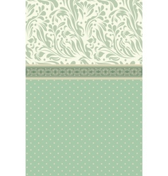 Retro floral greeting card vector image vector image