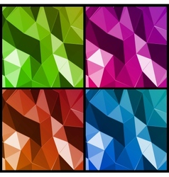 Set abstract triangle background vector image vector image