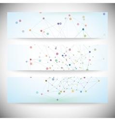Set of digital backgrounds for communication vector image