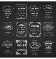 Set of templates with banners vintage design vector