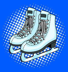 skates pop art style vector image vector image