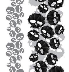 Skulls seamless pattern vertical composition vector image
