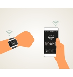Smart wristwatch vector image