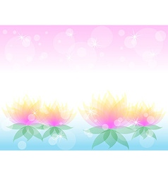 Soft waterlily flower with pink vector