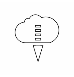Transfer files from cloud icon outline style vector