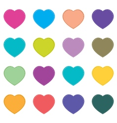 Valentines day and colorful heart isolated on vector