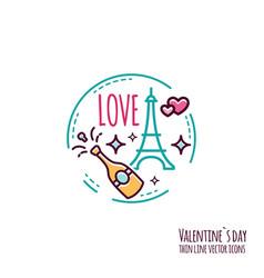 Valentines day icon stamp sticker label baner vector