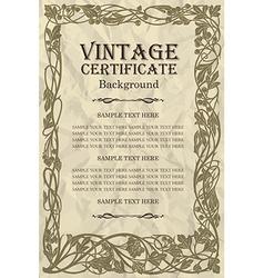 Vintage frame design - art nouveau vector
