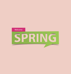 welcome spring season banner isolated vector image vector image