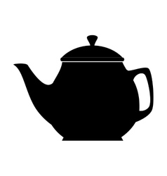 Coffee tea pot icon vector