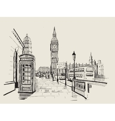 Hand-drawn london vector