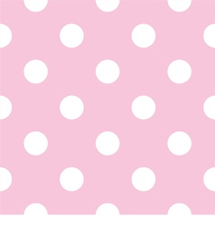 Seamless pattern with white polka dots on pink vector image