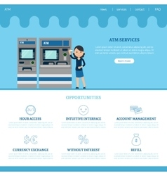 Bank landing page template vector