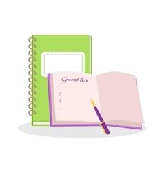 Wedding Notepads Flat Design vector image