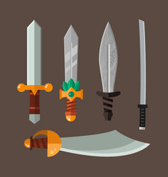 Knife weapon dangerous metallic vector