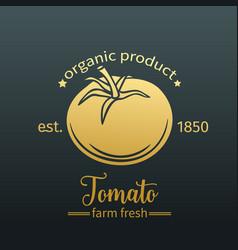 tomato golden badge vector image