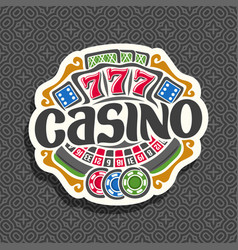 Logo for casino vector