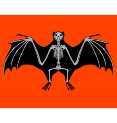 Bat skeleton vector
