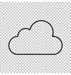 Cloud technologie line icon vector