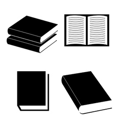 Educational books design vector