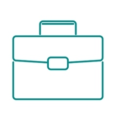 Briefcase suitcase thin icon luggage business bag vector