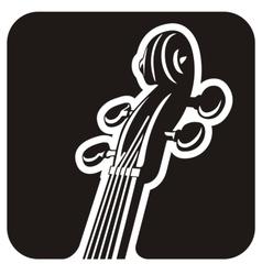 Violin pegbox vector