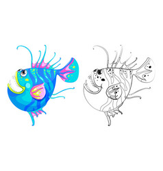 Animal outline for fancy fish vector