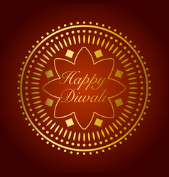 Beautiful gold ornament for diwali celebration or vector
