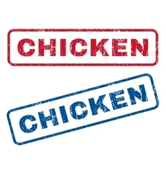 Chicken Rubber Stamps vector image