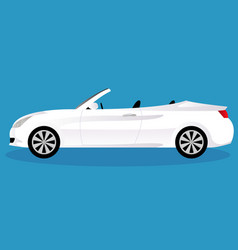 Convertible car body type vector