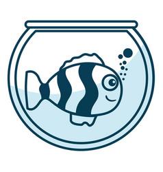 cute ornamental fish in aquarium vector image vector image