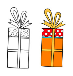 decorative gift box with a surprise black and vector image vector image