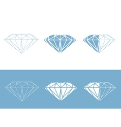Diamond collection vector