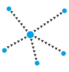 Dotted relations flat symbol vector
