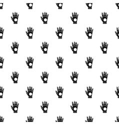 Electronic glove pattern simple style vector