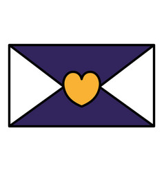 Envelope mail with heart isolated icon vector