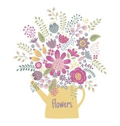 Flower kettle vector