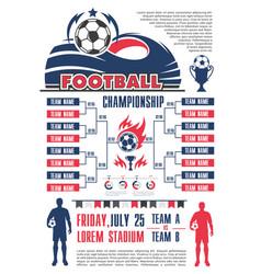 Football championship schedule banner template vector