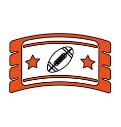 football ticket vector image vector image