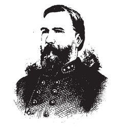 general james longstreet vintage vector image vector image