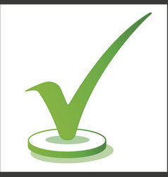 green check mark vector image vector image